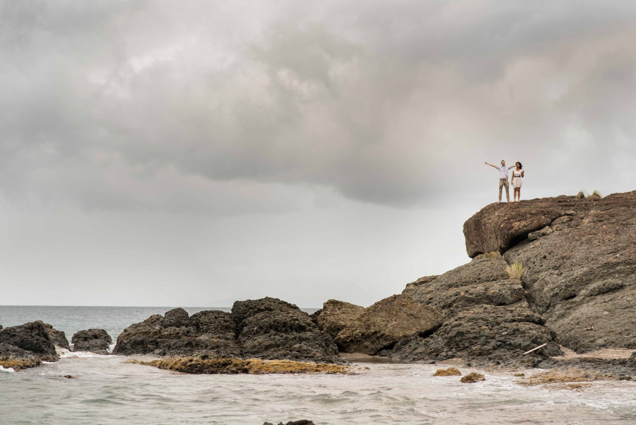 Engagement photography at beach in Culebra, PR