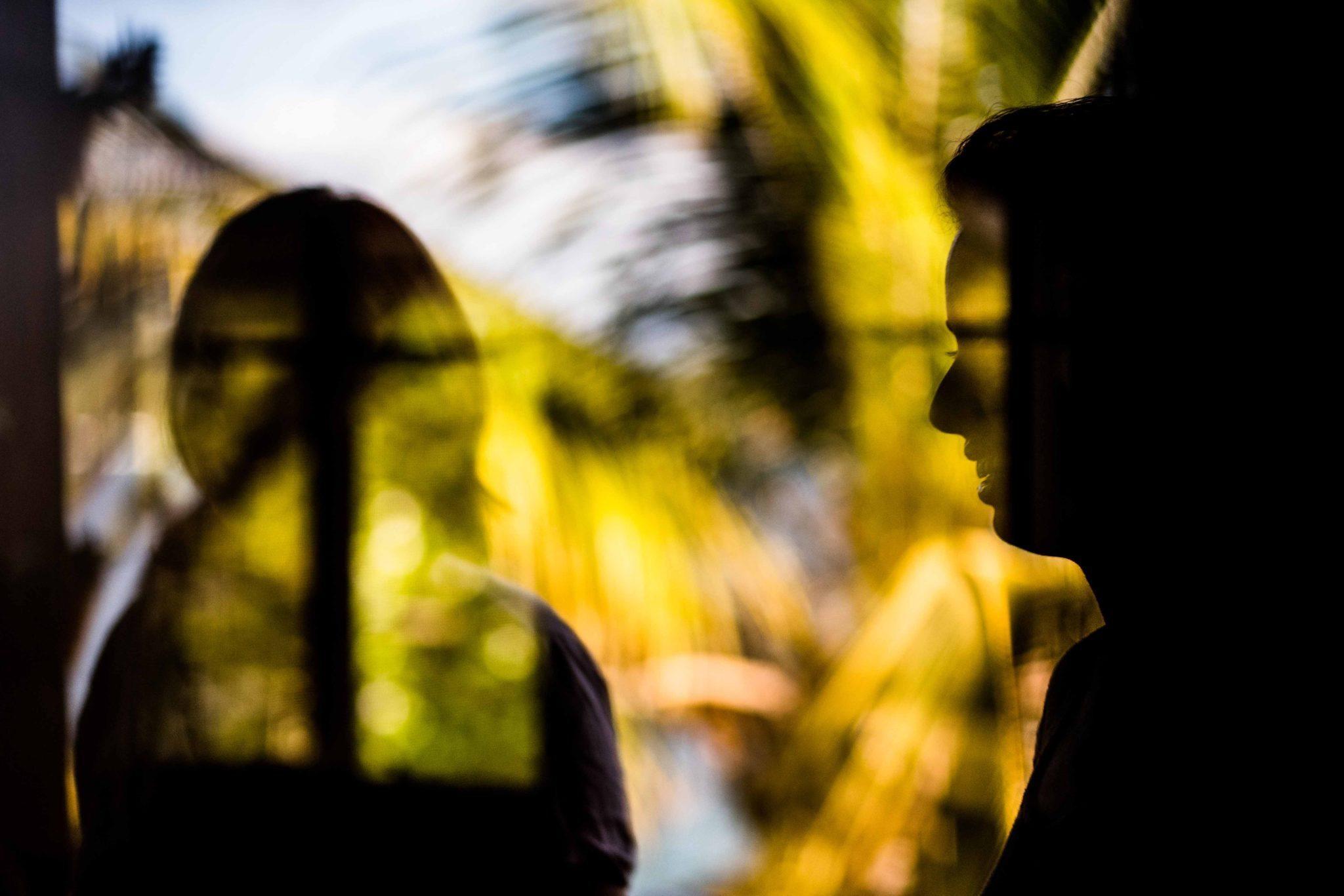 Creative reflection silhouette