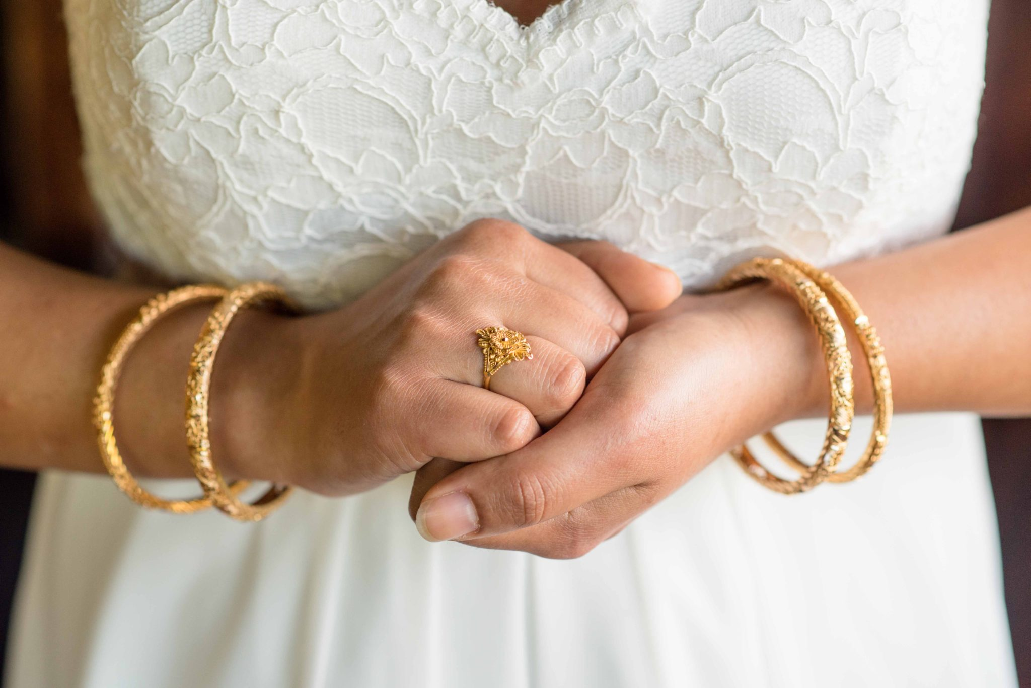 Bride with her jewelry at destination wedding puerto rico