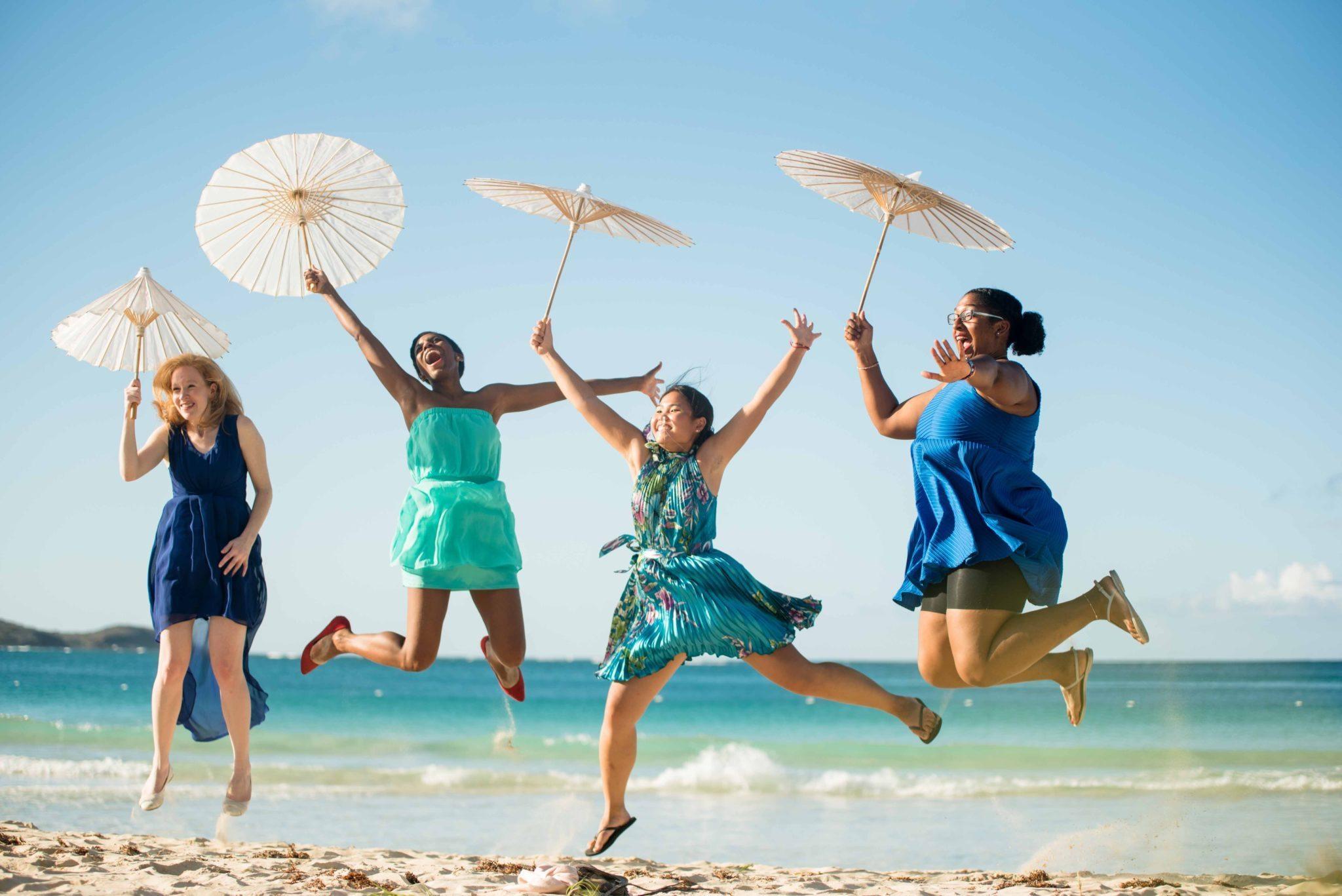 Fun beach wedding photography in Puerto Rico