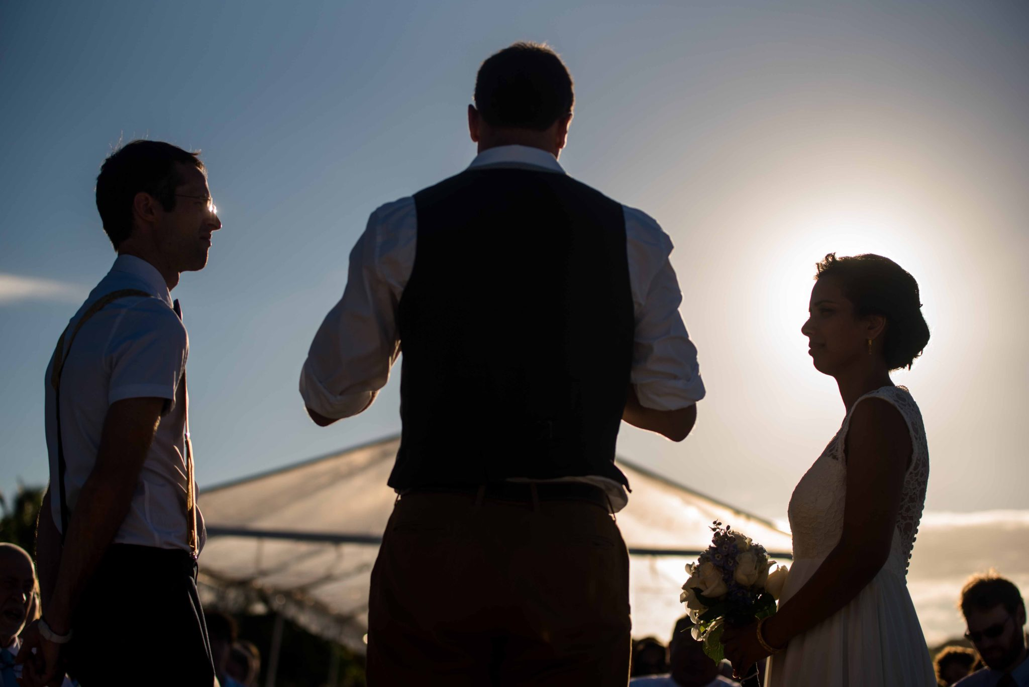Bride and groom wedding Flamenco beach