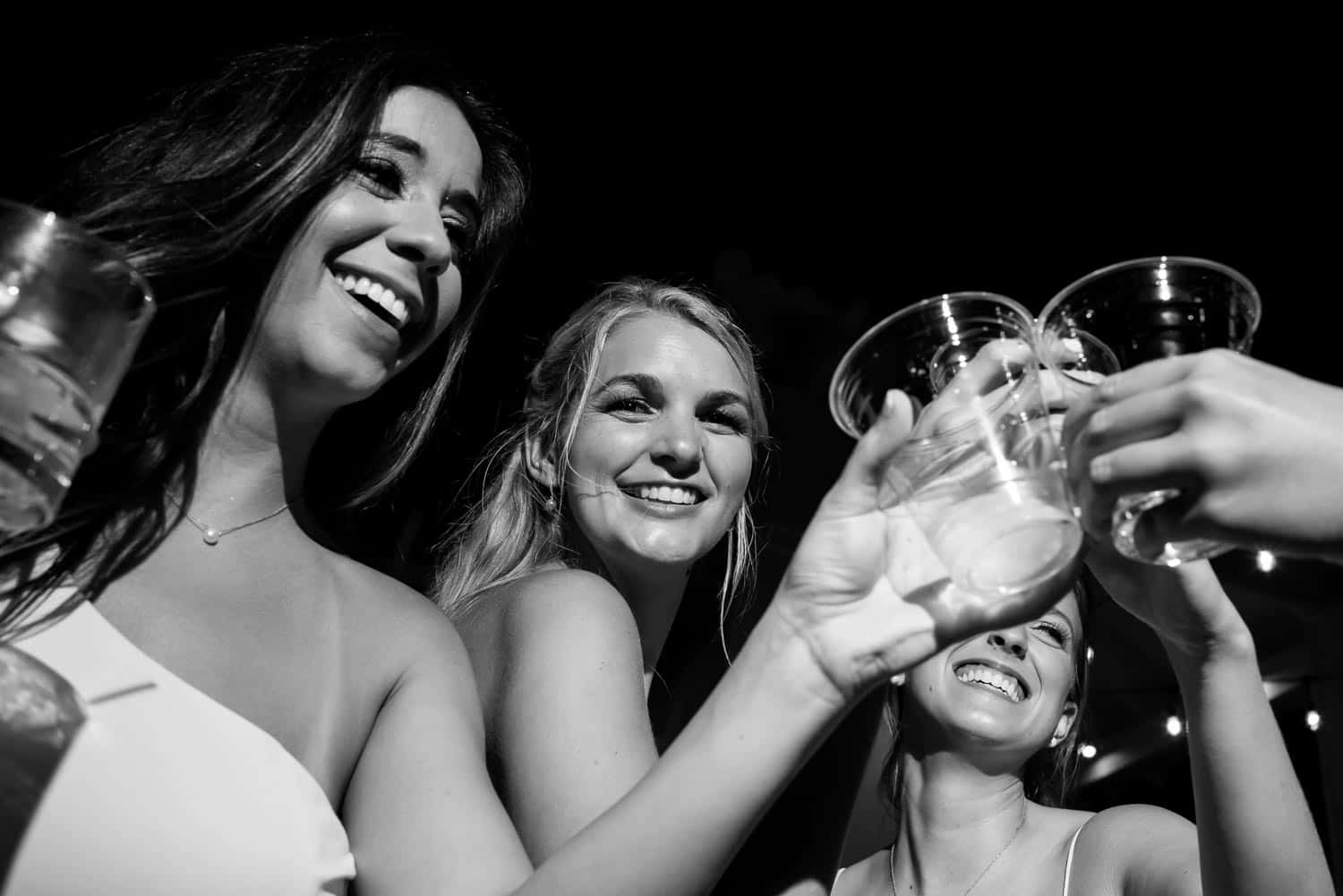 BW Girls making a toast