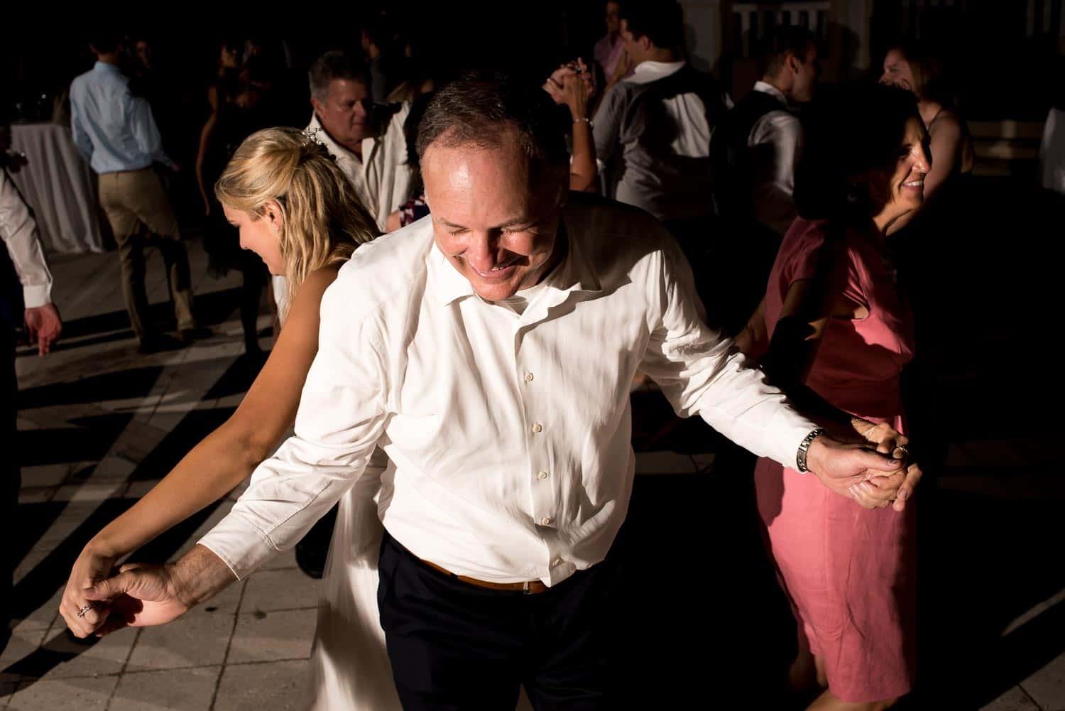 Dad and daughter bride dancing