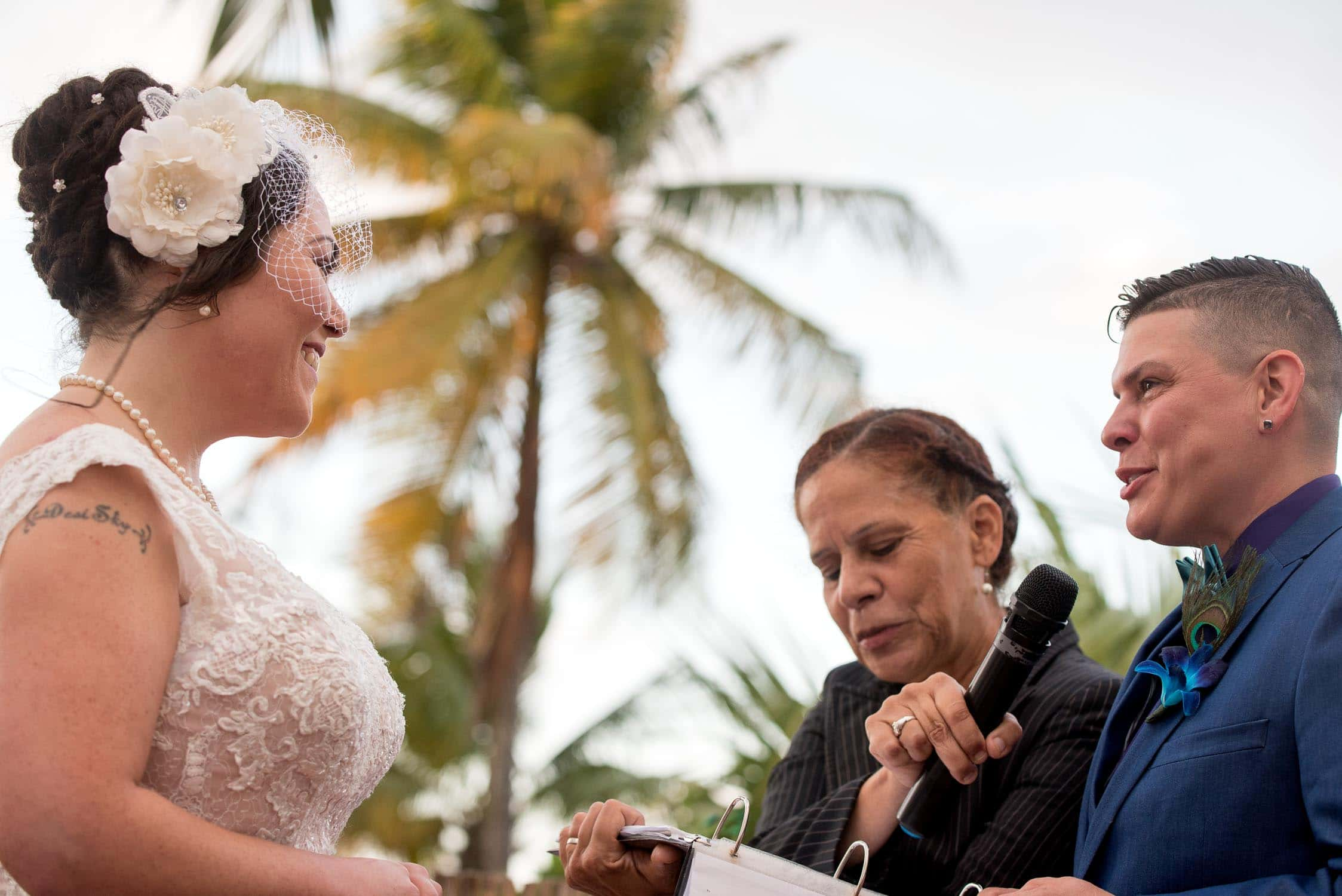 Exchanging of vows during wedding ceremony