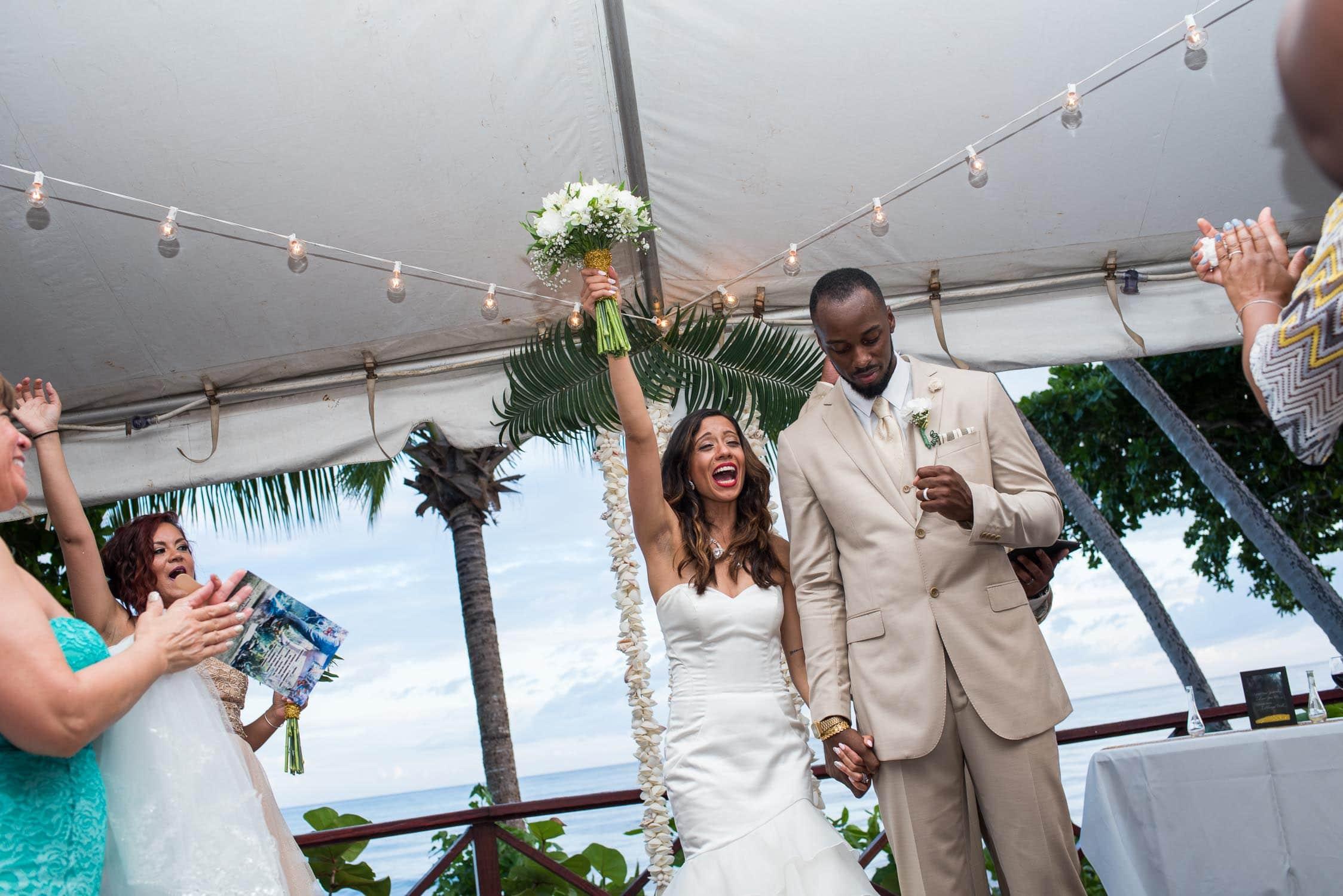 Celebrating after wedding vows